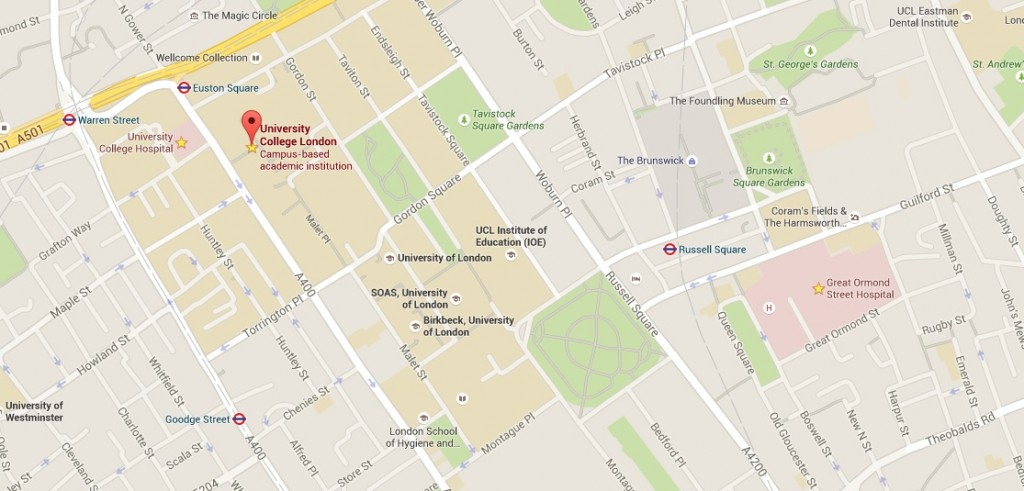Map of UCL